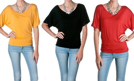 Zenana by Riverberry Dolamn Tops