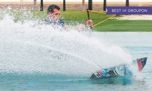 Water Sports at Al Forsan International Sports: Facility Pass with Wetsuit and Wakeboard Hire for One or Two at Water Sports at Al Forsan International Sports (48% Off)