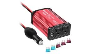 Car Power Inverter 300W DC 12V to 110V AC Converter with 4.8A Dual USB