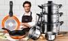 San Ignacio 8er-Set Kochtöpfe und Bergner 2er-Set Pfannen