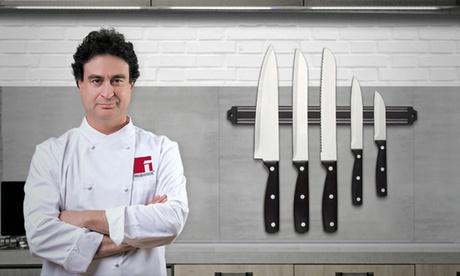 Set de 5 cuchillos con soporte magnético Renberg