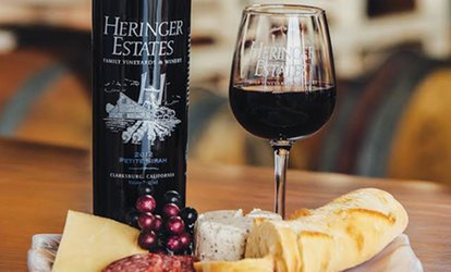 image for $16 for <strong>Tasting</strong> Flight for Two with <strong>Tasting</strong> Glasses at Heringer Estates Vineyards & Winery ($27 Value)