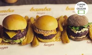 Bamba Burger: Rodízio de mini-hambúrger + Bamba Fries à vontade para 1 ou 2 pessoas no Bamba Burger – Cambuí