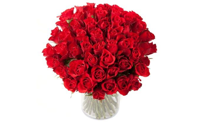 15, 30, 60 ou même 100 roses rouges pour la St-Valentin dés 24,90 € sur le site Les Fleurs de Nicolas