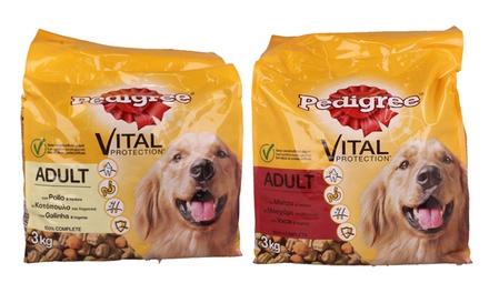 Fino a 3 confezioni di cibo per cani Pedigree da 3 kg disponibili in 2 gusti