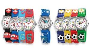 1, 2 ou 3 montres en silicone pour enfants de la marque Excellanc