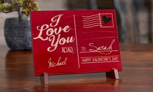 Personalized Wood Postcard from Personalization Mall