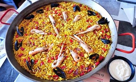 Menu spagnolo con1 kg di paella a scelta e un litro di sangria al Ristorante La Sangria (sconto fino a 67%)