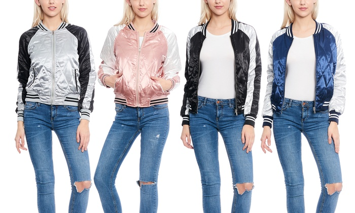 Women's Quilted Varsity Jacket