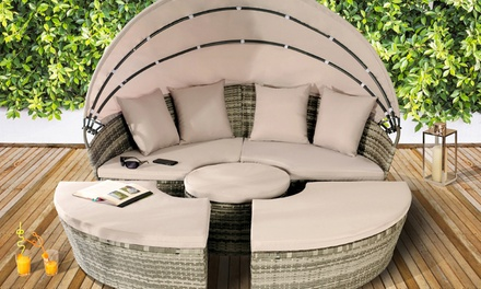 Rattan-Effect Sun Island from £349.99 with Optional Full Cover from £349.99 With Free Delivery