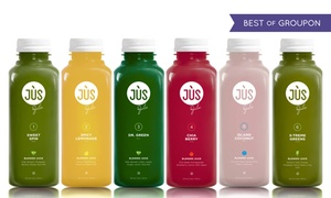 Jus by Julie: Three- or Five-Day Juice Cleanse with Option for 12 Booster Shots from Jus by Julie ( 44% Off )