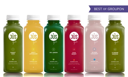 Three- or Five-Day Juice Cleanse with Option for 12 Booster Shots from Jus by Julie ( 40% Off )