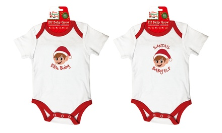 One or Two Elf Baby Grow Onesies in Choice of Design