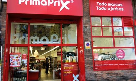 Paga 1 € por un descuento de 4 € para comprar en tiendas Primaprix