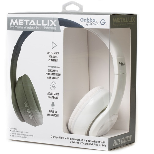 50ca3327bae Gabba Goods Metallix Elite Edition DJ Over-Ear Bluetooth Headphones    Groupon