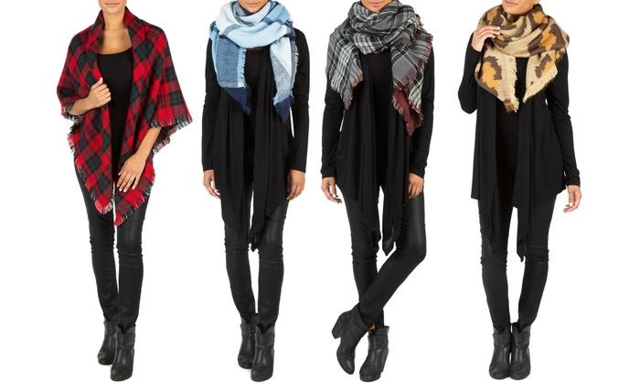 Sociology Reversible Blanket Scarf   Groupon Exclusive