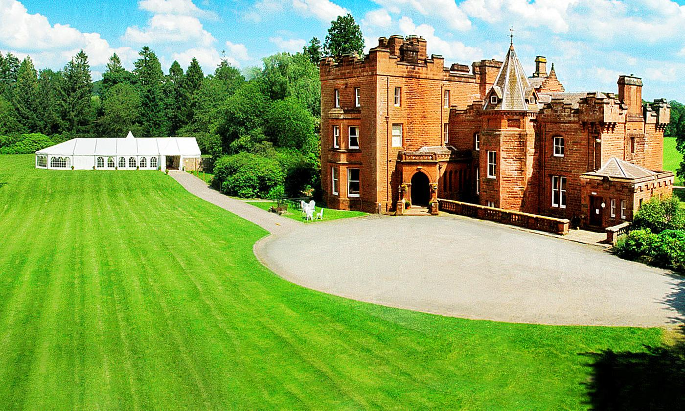 Dumfriesshire: Choice of Double Rooms for Two with Breakfast, 2-Course Dinner with Wine and Gift at Friars Carse Hotel