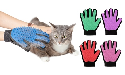 One or Two Pet Grooming Gloves