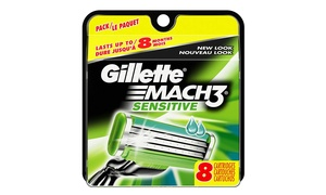 Gillette Mach3 Sensitive Men's Razor Blade Cartridges (8- or 16-Count)
