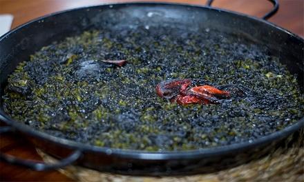 Menú para 2 o 4 personas con entrante, principal, postre y bebida desde 22,99 € en 211 Olivos Playa