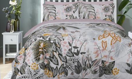 Set de funda nórdica Botanical Tropical con 1 o 2 fundas de almohadas