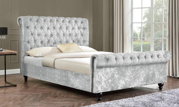 Tyrell Chenille Velvet Bed Frame