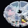 8-Compartment Round Jewelry Organizer (2-Pack)