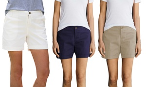 Women's Cotton-Blend Cuffed Shorts. Plus Sizes Available.