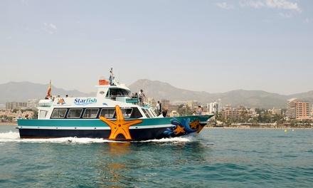 Paseo en barco con avistamiento de delfines para 2 o 4 y menú de arroz desde 44,90 € con Ocio Costa Del Sol