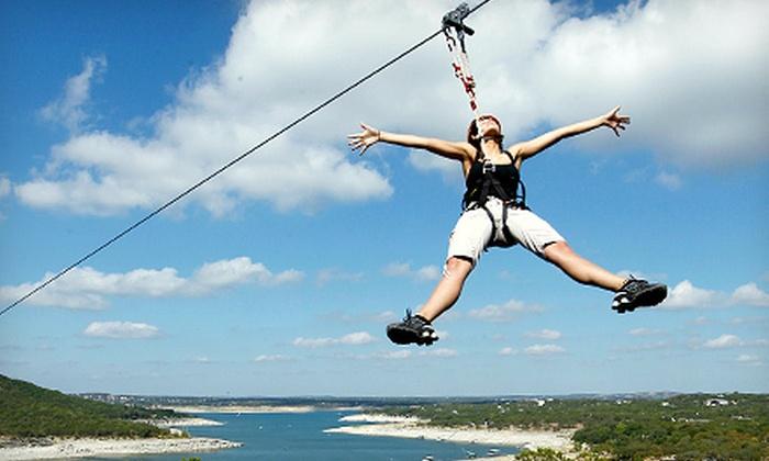 Lake Travis Zipline Adventures - Austin: $69 for Zipline Tour and T-Shirt at Lake Travis Zipline Adventures ($115 Value)