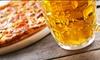 Pizza, fritto misto, dolce e birra