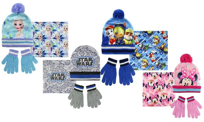 Cappello, guanti e pashmina Disney