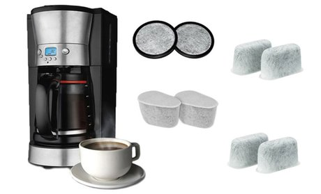 Replacement Charcoal Water Filters for Coffee Makers (6- or 12-Pack)
