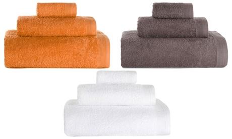 Set de 3 toallas de baño de algodón
