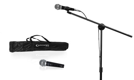Technical Pro MC1ST Wired Microphone and Tripod Starter Kit (5-Piece)