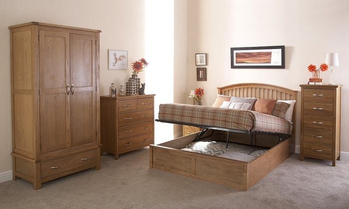 Handmade Seville Wooden Ottoman Bedframe with Optional Bonnell Mattress