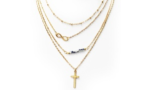 18K Gold-Plated Infinity Cross Charm Necklace with Swarovski Crystals  at 18K Gold-Plated Infinity Cross Charm Necklace with Swarovski Crystals , plus 9.0% Cash Back from Ebates.