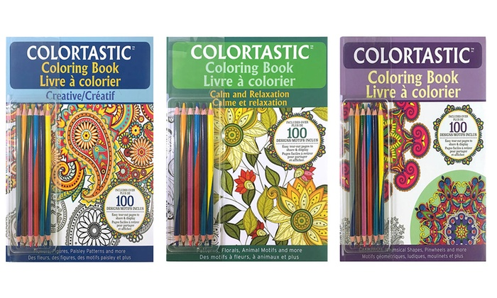 Colortastic Adult Coloring Book Bundle 3 Piece