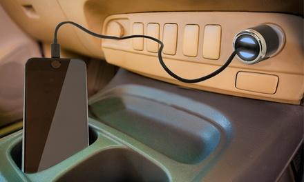 1 o 2 cargadores de coche para smartphone Logic 3 con cable Lightning MFI
