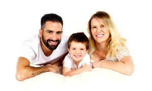 Basingstoke Studios: One-Hour Family Photoshoot with Prints at The Basingstoke Studio (87% Off)