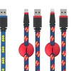 Batman or Superman 5Ft. Apple-Certified Lightning or MicroUSB Cables