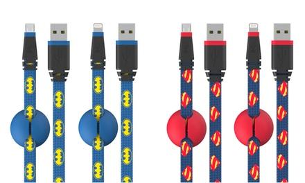Batman or Superman 5Ft. MicroUSB Cables
