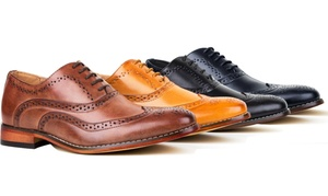 Gino Vitale Men's Wingtip Lace-up Dress Shoes