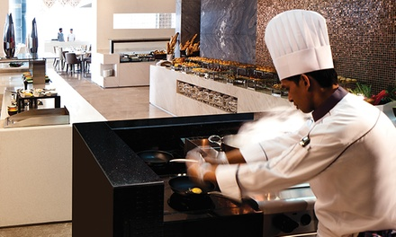 Breakfast, Lunch or Dinner Buffet with Drinks for Up to Six at Rosewater at 5*Jumeirah at Etihad Towers (Up to 63% Off)