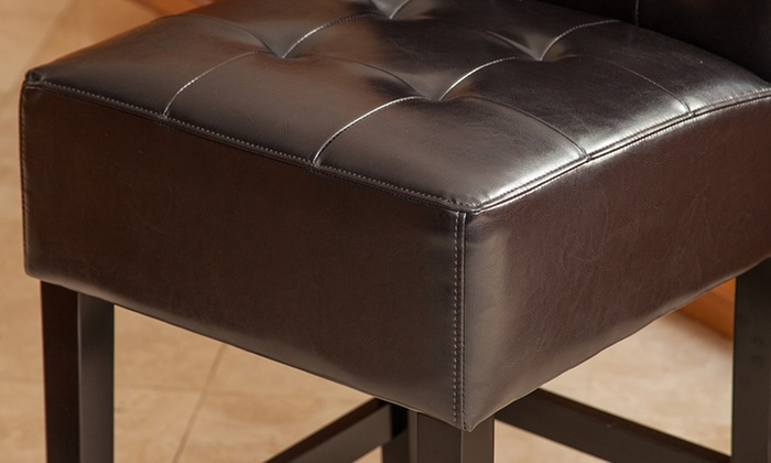 Super Bronson Espresso Brown Leather Counter Stools 2 Piece Gmtry Best Dining Table And Chair Ideas Images Gmtryco