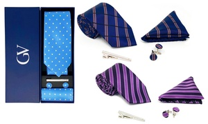 Gino Vitale Men's 100% Silk Tie Set (4-Piece)