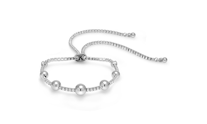 5a8b167fad2 Sophia Lee Adjustable Ball Bracelet Made with Swarovski Crystals | Groupon
