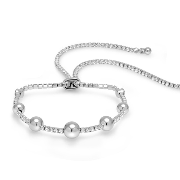 c9e7e8fbb Sophia Lee Adjustable Ball Bracelet Made with Swarovski Crystals | Groupon