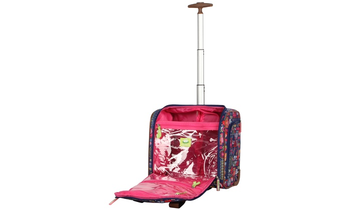 Lily Bloom Underseat Bag Rolling Carry On Luggage Groupon