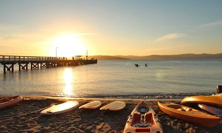 One Hour Single ($12) or Double Kayak Hire ($19) The Boatshed   Days Bay (Up to $35 Value)